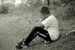 Boy Giving Up