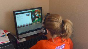 Ella Working on Reading Buddies