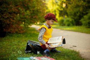 Child Enjoying Reading