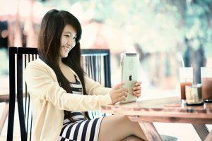 Girl and iPad