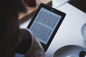 Reading Book on Tablet