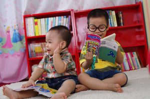 Kids Enjoying Reading