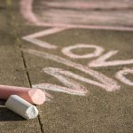 Sidewalk Chalk Heart